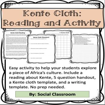 Kente Cloth: Reading and Activity