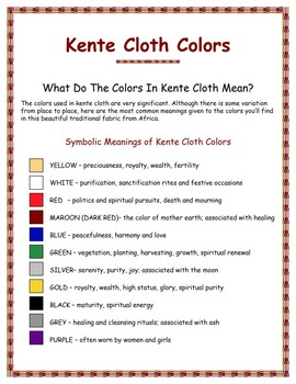 Kente Cloth - What Do The Colors Mean?