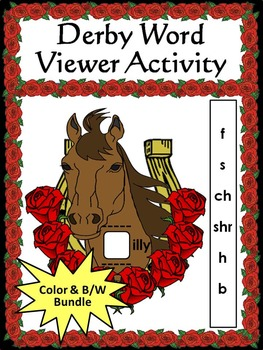 Kentucky: Derby Word Viewer Activity Bundle Color plus Black & White