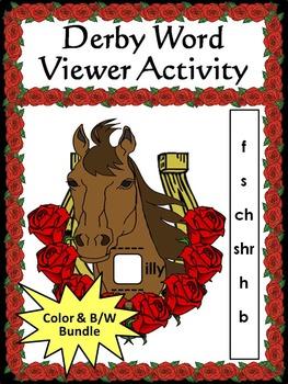 Kentucky: Derby Word Viewer Activity Bundle Color plus Bla