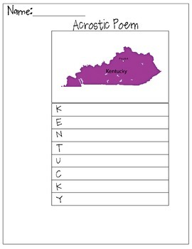Kentucky Acrostic Poem
