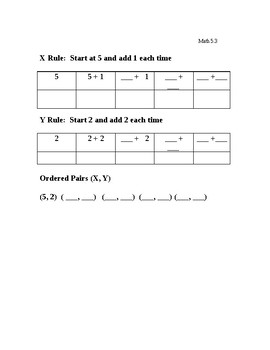 Kentucky Alternate KPREP 5th Grade Math 5.3 -  Patterns & Ordered Pairs