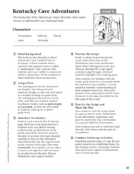 Kentucky Cave Adventures (Leveled Readers' Theater, Grade 6+)
