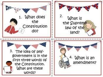 U.S. Civics/Govt. Review Task Cards (Ky. Version)