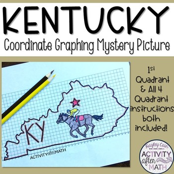 Kentucky Coordinate Graphing Picture 1st Quadrant & ALL 4 Quadrants