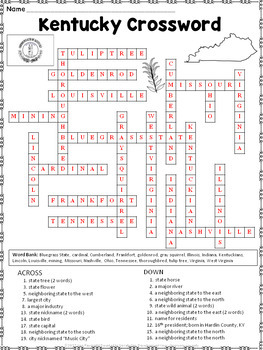 Kentucky Crossword Puzzle