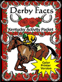 Derby Activities: Derby Facts Kentucky Activity Packet Col