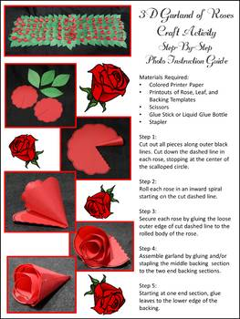 Kentucky: Derby Craft Activity: 3D Garland of Roses Craft Activity Packet