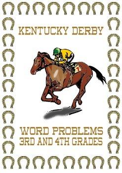 Kentucky Derby Math Word Problems 3rd 4th