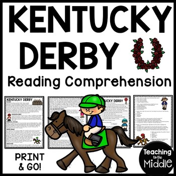 Kentucky Derby Reading Comprehension Workesheet, Questions