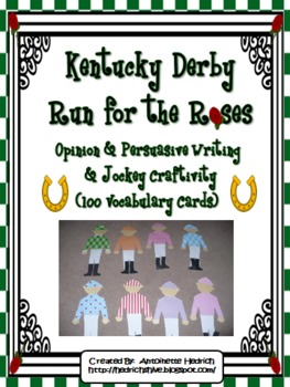 Kentucky Derby Run for the Roses Writing Activities and Jo