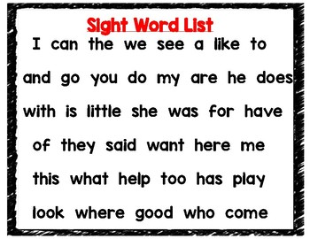 Kentucky Derby Sight Words