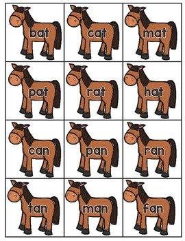 Kentucky Derby Word Family Fluency Game
