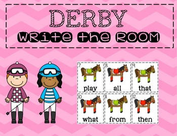 Kentucky Derby Write the Room (Sight Words)