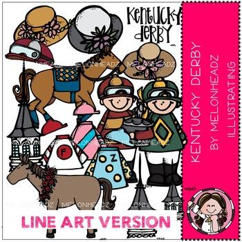 Kentucky Derby by Melonheadz LINE ART