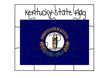 Kentucky Flag Puzzle