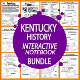 Kentucky History Interactive Notebook Bundle–NINE Kentucky State Study Lessons!