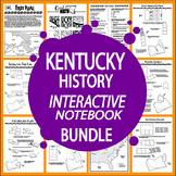 Kentucky History Interactive Notebook Bundle–NINE Kentucky State Study Lessons!