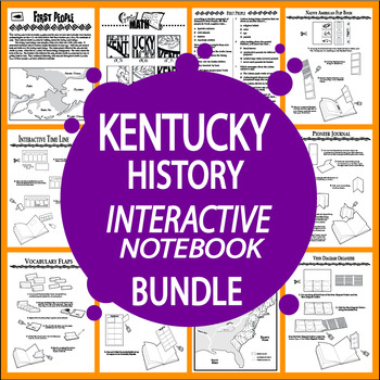 Kentucky History Unit~9 COMPLETE Interactive Notebook Lessons!