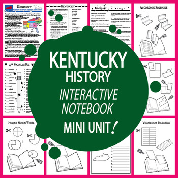 Kentucky History Interactive Notebook Mini Unit + AUDIO!