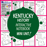 Kentucky History–Interactive Notebook Kentucky State Study Unit + AUDIO!
