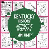Kentucky History State Study Interactive Notebook Unit + AUDIO