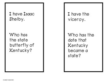 Kentucky I Have, Who Has Game