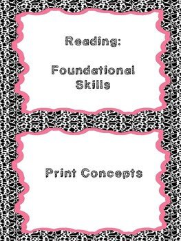 Kentucky K ELA I Can Statement Posters and Teacher Checklists