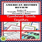 U.S. History, Economic, Civics/Govt. Review  - NUMBERED HEADS TOGETHER !