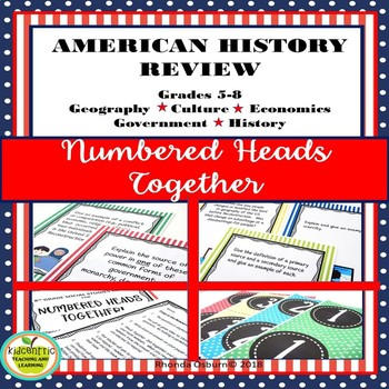 U.S. History Review of Civics, Economics, Geography, Culture and History - Game