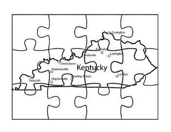 Kentucky Map Puzzle Fun