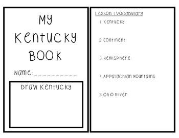 Kentucky Mini Book 1