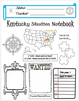 Kentucky Notebook Cover