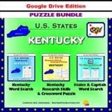 Kentucky Puzzle BUNDLE - Word Search & Crossword Activities - US States - Google