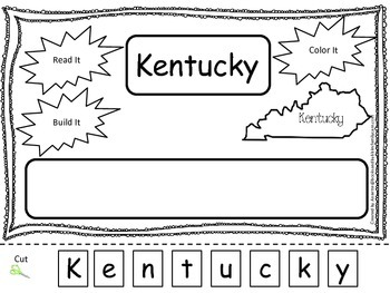 Kentucky Read it, Build it, Color it Learn the States pres