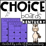 Kentucky State Research Choice Board Printables