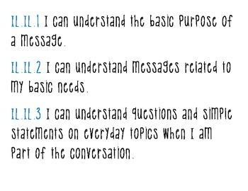 Kentucky Standards for World Language Proficiency (Intermediate)