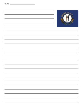 Kentucky State Flag Lined Paper