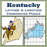 Kentucky State Latitude and Longitude Coordinates Puzzle - 60 Points to Plot