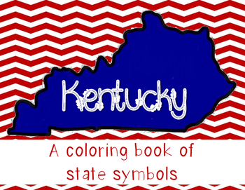 Kentucky State Symbols Coloring Book