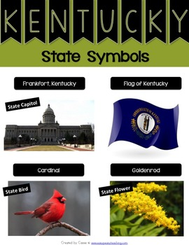 Kentucky State Symbols Notebook