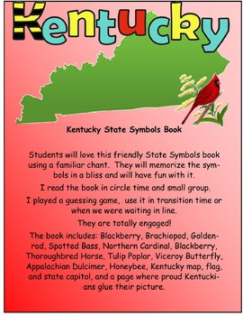 Kentucky State Symbols Teacher and Student Books