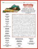 KENTUCKY State Symbols Word Search Puzzle Worksheet Activity