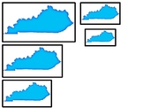 Kentucky State Symbols themed Size Sequence. Preschool Game