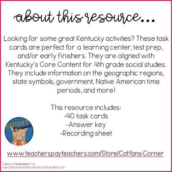 Kentucky Task Cards