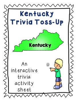 Kentucky Trivia Toss-Up Challenge Activity - State Geography