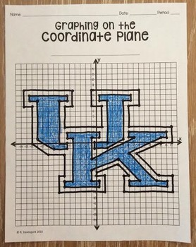 Kentucky Wildcats (Coordinate Graphing Activity)
