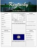 Kentucky state worksheet