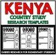 Kenya Country Study Research Project Templates and Graphic