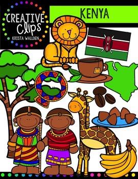 Kenya {Creative Clips Digital Clipart}